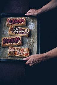 Puff pastry tarts by