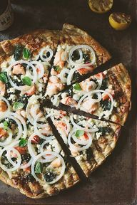 lobster grilled pizz