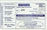 India. Bus ticket Po