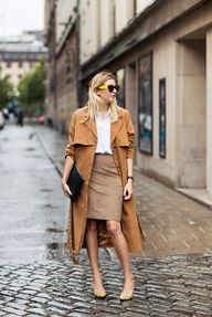 Trench + camel penci