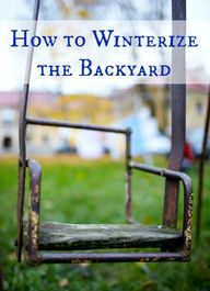 How to Winterize the