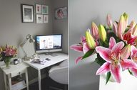 Home office decor in