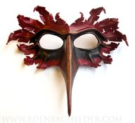bird mask- leather