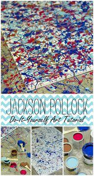 Jackson Pollock DIY