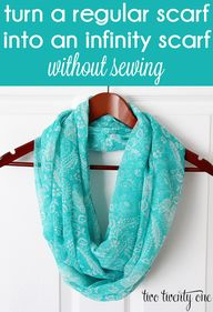 Fast and easy no-sew