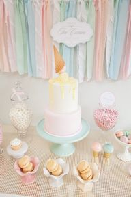 Ice cream social cak