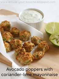 Avocado poppers with