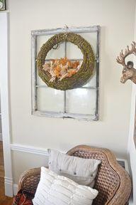 Rustic fall wreath w