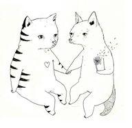 Cat Fox Love by Juli