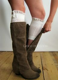 Dainty Lace Boot Cuf