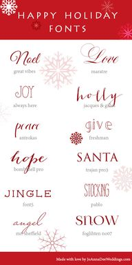 12 Holiday Fonts