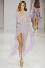 lilac dress.