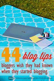 44 blogging tips blo