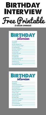 Free Birthday Interv