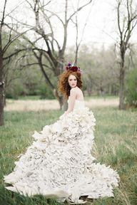 Wedding dress made f