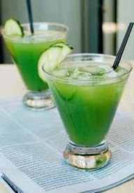 Cucumber, pineapple