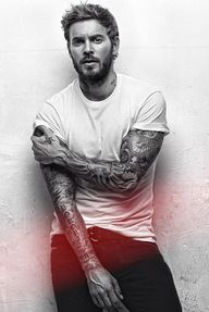white tee and tats