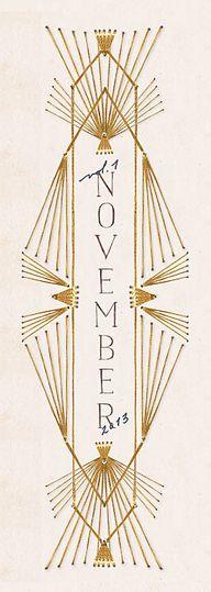 November, Anthropolo