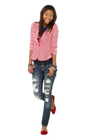 Striped Blazer & Jeans