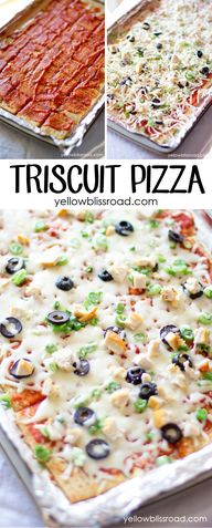 Triscuit Pizza - A h