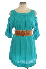 Turquoise dress from