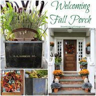 Welcoming Fall Porch