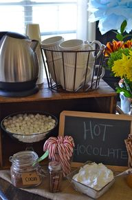 Hot chocolate bar fo