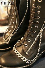 HIGH chain boots