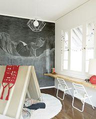 Chalkboard wall! Kid