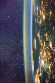 Airglow over Earth