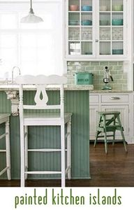 painted kitchen isla