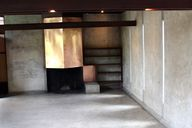 The copper fireplace