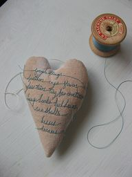 tiny words stitched