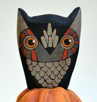 Owl on a Pumpkin Ori