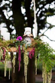 Hanging greenery wit