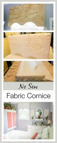 No Sew Fabric Cornic