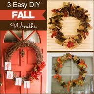3 Easy DIY Fall Wrea