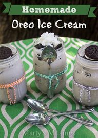 Homemade Oreo Ice Cr