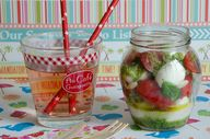 salade mozza tomates