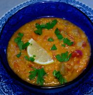 Red lentil soup with...