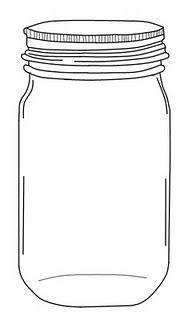 Mason Jar Template Printable Free Sketch Coloring Page
