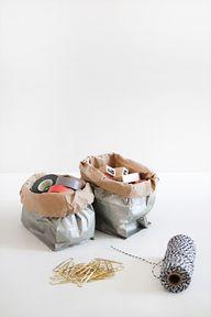 diy metallic sacks