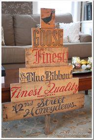 Vintage Sign Christm