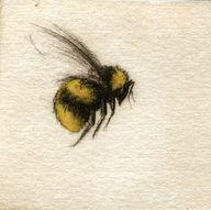 Watercolor bee tatto