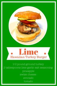 Lime Hawaiian Burger