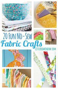 20 Fun No-Sew Fabric