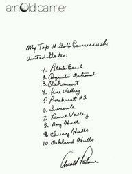 Arnold Palmer's top