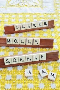 scrabble place cards