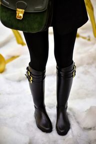 boots and tights...
