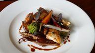 New Guinea fowl dish